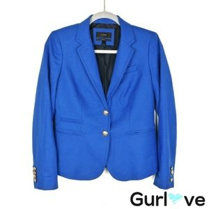 J. Crew Blue Schoolboy Blazer Size 2